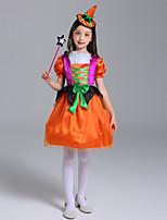 baratos -Infantil / Bébé Para Meninas Retalhos Manga Curta Vestido