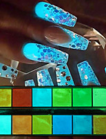 cheap -1 pcs Glitter Powder Color Gradient / High quality, formaldehyde free Romantic Series Rainbow nail art Manicure Pedicure Christmas / Halloween / Masquerade Artistic / Aristocrat Lolita