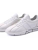 Недорогие -Муж. Комфортная обувь Полиуретан Осень Кеды Белый / Черный / Серый