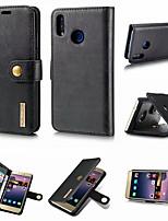 Недорогие -DG.MING Кейс для Назначение Huawei P20 / P20 Pro Кошелек / Бумажник для карт / со стендом Чехол Однотонный Твердый Настоящая кожа для Huawei P20 / Huawei P20 Pro / Huawei P20 lite