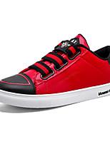 Недорогие -Муж. Комфортная обувь Искусственная кожа Наступила зима На каждый день Кеды Контрастных цветов Черный / Черно-белый / Черный / Красный