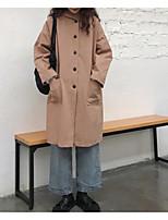 Недорогие -Жен. На выход Куртка Однотонный