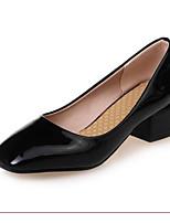 Недорогие -Жен. Комфортная обувь Полиуретан Весна Обувь на каблуках На толстом каблуке Черный / Красный / Синий