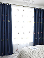 Недорогие -Шторы портьеры Спальня Современный стиль Хлопок / полиэфир Активный краситель