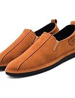 baratos -Homens Sapatos Confortáveis Couro Ecológico Outono Mocassins e Slip-Ons Preto / Amarelo / Verde