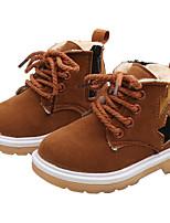 Недорогие -Девочки Обувь Замша Наступила зима Ботильоны Ботинки для Дети Черный / Пурпурный / Коричневый