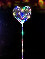 Недорогие -3m 30led вел звездой шнур в форме сердца воздушный шар любви огни гирлянды для рождественской свадьбы дома украшение