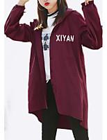 Недорогие -Жен. Куртка Классический - Однотонный / Буквы
