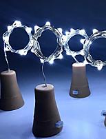 baratos -HKV 1m Cordões de Luzes 8 LEDs Branco Quente / Branco / Roxa Solar / Decorativa Alimentado por Energia Solar 4pçs