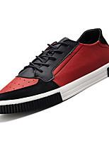 Недорогие -Муж. Комфортная обувь Полиуретан Осень На каждый день Кеды Дышащий Черно-белый / Черный / Красный