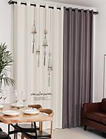 cheap -Curtains Drapes Bedroom Floral / Geometric Linen Reactive Print