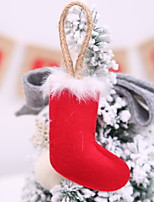 Недорогие -Рождественские украшения Новогодняя тематика Ткань Квадратный Оригинальные Рождественские украшения