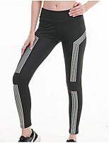 preiswerte -Damen Sportlich Legging - Einfarbig Mittlere Taillenlinie