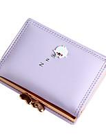 Недорогие -Жен. Мешки Искусственная кожа Бумажники Пуговицы Лиловый / Пурпурный / Небесно-голубой