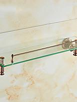 baratos -Prateleira de Banheiro Novo Design / Legal / Multifunções Modern vidro / Aço Inoxidável / Ferro 1pç Montagem de Parede