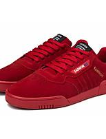 Недорогие -Муж. Комфортная обувь Полиуретан Осень На каждый день Кеды Сохраняет тепло Черный / Серый / Красный