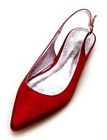 baratos -Mulheres Bailarina Cetim Primavera Verão Minimalismo Sapatos De Casamento Sem Salto Dedo Apontado Pedrarias / Laço Vinho / Champanhe / Ivory / Festas & Noite