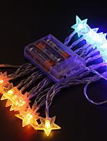 Недорогие -2,5м Гирлянды 20 светодиоды Разные цвета Декоративная / обожаемый Аккумуляторы 1 комплект