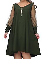 preiswerte -Damen Street Schick Das kleine Schwarze Kleid Solide Knielang