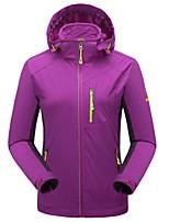 Недорогие -Жен. Куртка для туризма и прогулок на открытом воздухе Зима С защитой от ветра Дожденепроницаемый Воздухопроницаемость Терилен Куртки 3-в-1 Односторонняя