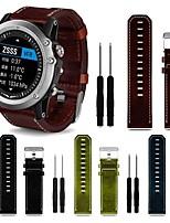 Недорогие -Ремешок для часов для Fenix 3 Garmin Кожаный ремешок Кожа / Натуральная кожа Повязка на запястье