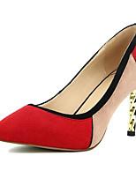 abordables -Femme Chaussures de confort Daim Printemps / Automne Chaussures à Talons Talon Aiguille Noir / Rouge