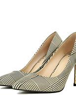 Недорогие -Жен. Комфортная обувь Синтетика Весна Обувь на каблуках На шпильке Золотой / Серебряный
