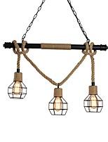 Недорогие -OYLYW 3-Light промышленные Люстры и лампы Рассеянное освещение Окрашенные отделки Металл 110-120Вольт / 220-240Вольт Лампочки не включены / E26 / E27