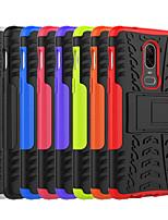 Недорогие -Кейс для Назначение OnePlus OnePlus 6 / OnePlus 5T Защита от удара / со стендом Кейс на заднюю панель Плитка / броня Твердый ПК для OnePlus 6 / One Plus 5 / OnePlus 5T