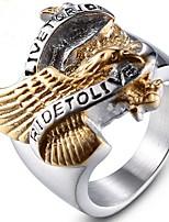Недорогие -Муж. Старинный Midi Ring - Титановая сталь Панк 8 / 9 / 10 / 11 / 12 Золотой Назначение Для вечеринок Повседневные