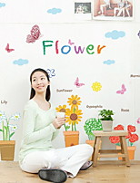 cheap -Window Film & Stickers Decoration Ordinary Flower / Floral / Classic / Character PVC(PolyVinyl Chloride) Window Sticker