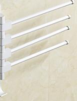 abordables -Barre porte-serviette Design nouveau Moderne Aluminium 1pc Barre à 4 serviettes Montage mural