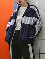 baratos -Mulheres Jaqueta Moda de Rua - Contemporâneo