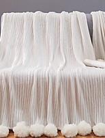 Недорогие -Фланель, Активный краситель Однотонный Хлопок одеяла