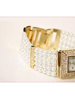 Недорогие -Жен. Наручные часы Кварцевый Имитация Алмазный Группа Аналоговый Аналого-цифровые Мода Белый - Золотой Серебряный / Нержавеющая сталь