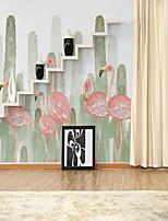 abordables -fond d'écran / Mural Toile Revêtement - adhésif requis Peinture / Fleur / 3D