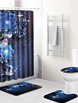 Недорогие -1 комплект Modern Коврики для ванны 100 г / м2 полиэфирный стреч-трикотаж Новинки Прямоугольная Ванная комната Противоскользящий