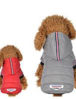 baratos -Cachorros / Gatos Camisola com Capuz Roupas para Cães Riscas / Frases e Citações Cinzento Algodão Ocasiões Especiais Para animais de estimação Unisexo Mantenha Quente / Fashion