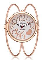 Недорогие -Жен. Часы-браслет Кварцевый Новый дизайн Повседневные часы сплав Группа Аналоговый Мода Элегантный стиль Серебристый металл / Золотистый / Розовое золото -  / Один год