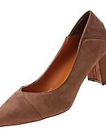 Недорогие -Жен. Балетки Полиуретан Осень На каждый день Обувь на каблуках На толстом каблуке Черный / Хаки / Повседневные