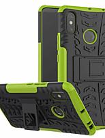 Недорогие -Кейс для Назначение Xiaomi Xiaomi Mi Max 3 со стендом Кейс на заднюю панель броня Твердый ПК для Xiaomi Mi Max 3