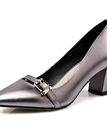 abordables -Femme Chaussures de confort Cuir Nappa Printemps Chaussures à Talons Talon Bottier Argent / Rouge
