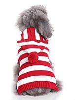 baratos -Cachorros Súeters Roupas para Cães Bordados Elegantes / Tingido / Personagem Fúcsia / Vermelho / Azul Terylene Ocasiões Especiais Para animais de estimação Unisexo Casual / Estilo simples