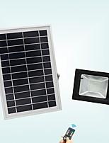 baratos -1pç 20 W Focos de LED Impermeável / Controlado remotamente / Solar Branco Frio 3.7 V Iluminação Externa / Pátio / Jardim 56 Contas LED