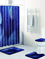 Недорогие -1 комплект Modern Коврики для ванны 100 г / м2 полиэфирный стреч-трикотаж Новинки нерегулярный / Прямоугольная Ванная комната обожаемый