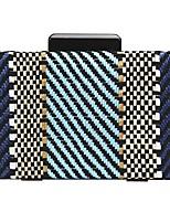 Недорогие -Жен. Мешки Солома Вечерняя сумочка Геометрический рисунок Синий / Белый / Розовый