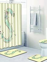 Недорогие -1 комплект Мультяшная тематика Коврики для ванны 100 г / м2 полиэфирный стреч-трикотаж Креатив Прямоугольная Ванная комната Новый дизайн