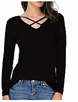 abordables -Tee-shirt Femme, Couleur Pleine Mosaïque