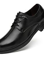 baratos -Homens Sapatos de couro Pele Napa Outono Negócio / Formais Oxfords À Prova-de-Água Preto