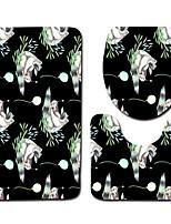 Недорогие -3 предмета Modern Коврики для ванны 100 г / м2 полиэфирный стреч-трикотаж Креатив Овал / Прямоугольная Ванная комната Очаровательный